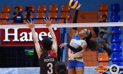Philippine Sports News - Tiebreaker Times Bali Pure-NU continues streaking, condemns BanKo to 4th straight loss News NU PVL Volleyball  Perlas Lady Spikers Kia Bright Babes Castillo Jutarat Montripilia Joyme Cagande Jennifer Nierva Janisa Johnson Dong dela Cruz Bali Pure-NU Purest Water Defenders Alexis Matthews 2018 PVL Women's Reinforced Conference 2018 PVL Season
