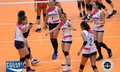 Philippine Sports News - Tiebreaker Times Creamline freezes Pocari Sweat for third win News PVL Volleyball  Tau Bundit Pocari Sweat-Air Force Lady Warriors Nikolina Asceric Myla Pablo Melissa Gohing Kuttika Kaewpin Jia Morado Jasper Jimenez Creamline Cool Smashers Arielle Love Alyssa Valdez 2018 PVL Women's Reinforced Conference 2018 PVL Season