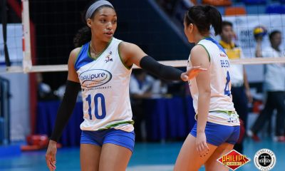 Philippine Sports News - Tiebreaker Times Bali Pure-NU surges to second win, upends Tacloban News NU PVL Volleyball  Tacloban Fighting Warays Shola Alvarez Nes Pamilar Joyme Cagande Jennifer Nierva Janisa Johnson Hyapa Amporn Bali Pure-NU Purest Water Defenders Babes Castillo Alexis Matthews 2018 PVL Women's Reinforced Conference 2018 PVL Season