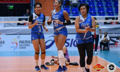 Tiebreaker Times Pocari Sweat-Air Force regains form, out-muscles Iriga-Navy for 2nd win News PVL Volleyball  Wendy Semana Pocari Sweat-Air Force Lady Warriors Myla Pablo Macy Ubben Lauren Whyte Jellie Tempiatura Jasper Jimenez Iriga-Navy Lady Oragons Edgardo Rusit Arielle Love 2018 PVL Women's Reinforced Conference 2018 PVL Season