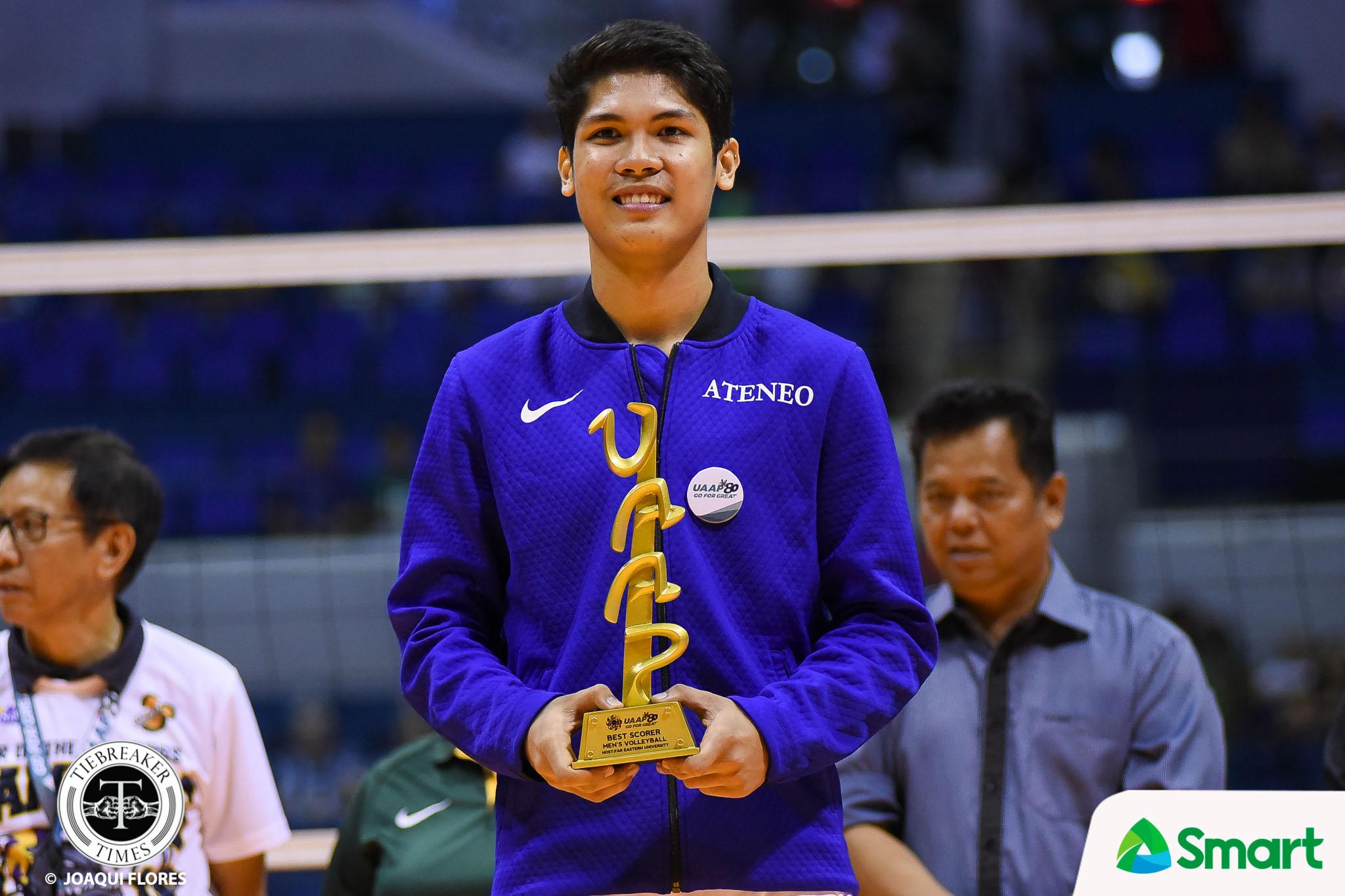 UAAP Season 80 Men's Volleyball Awarding Ceremony: Marck ...