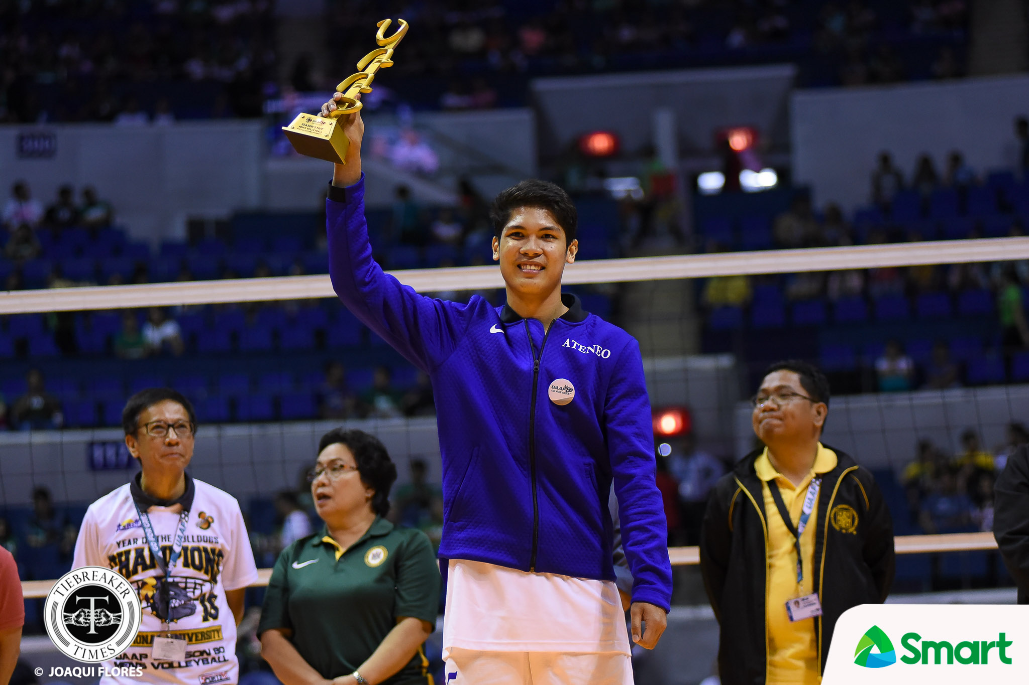 Tiebreaker Times After fruitful UAAP career, Marck Espejo looks to take act overseas ADMU News UAAP Volleyball  UAAP Season 80 Men's Volleyball UAAP Season 80 Marck Espejo Ateneo Men's Volleyball