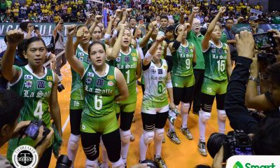 Philippine Sports News - Tiebreaker Times Lady Spikers sweep Lady Tamaraws for 11th title DLSU FEU News UAAP Volleyball  UAAP Season 80 Women's Volleyball UAAP Season 80 Ramil De Jesus Michelle Cobb Majoy Baron Kianna Dy George Pascua FEU Women's Volleyball DLSU Women's Volleyball Dawn Macandili Bernadeth Pons