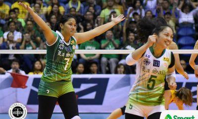 Philippine Sports News - Tiebreaker Times May Luna seizes the moment DLSU News UAAP Volleyball  UAAP Season 80 Women's Volleyball UAAP Season 80 May Luna DLSU Women's Volleyball