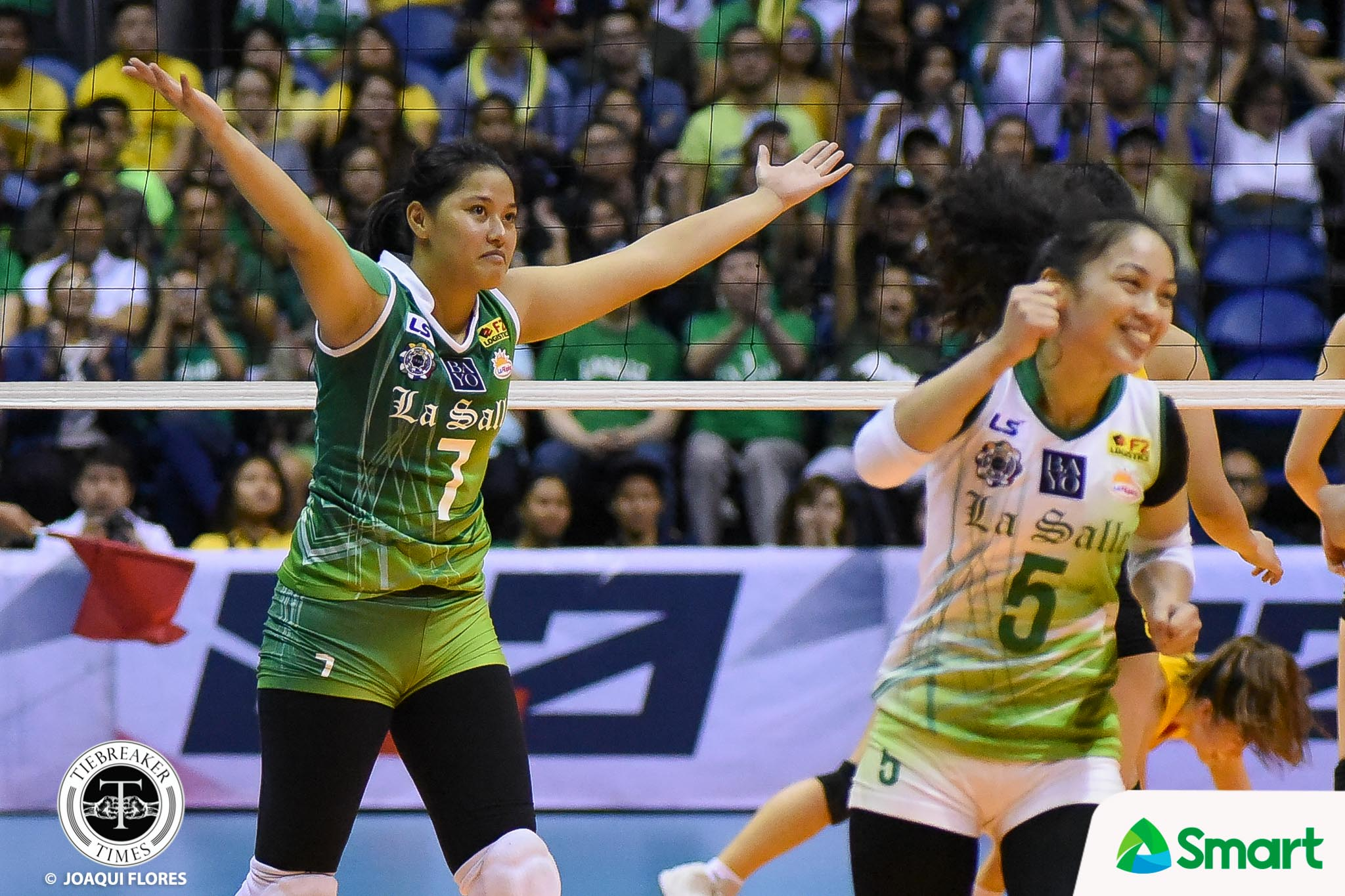 Tiebreaker Times May Luna seizes the moment DLSU News UAAP Volleyball  UAAP Season 80 Women's Volleyball UAAP Season 80 May Luna DLSU Women's Volleyball