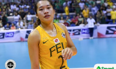 Philippine Sports News - Tiebreaker Times Down to her last game, Bernadeth Pons still puts teammates first FEU News UAAP Volleyball  UAAP Season 80 Women's Volleyball UAAP Season 80 George Pascua FEU Women's Volleyball Bernadeth Pons