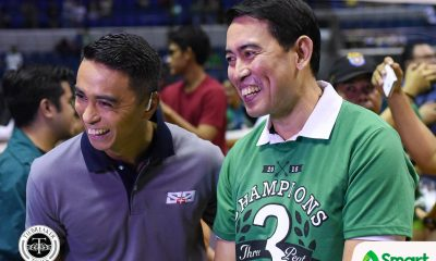 Philippine Sports News - Tiebreaker Times From 'pambarangay' to 'pang-three-peat', Ramil de Jesus relishes in another tough road to a championship DLSU News UAAP Volleyball  UAAP Season 80 Women's Volleyball UAAP Season 80 Ramil De Jesus DLSU Women's Volleyball