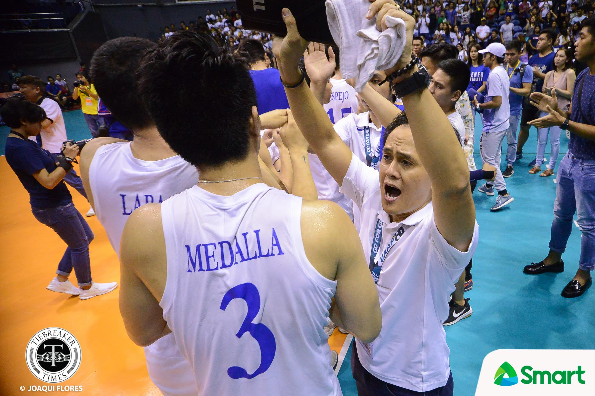 Tiebreaker Times SOURCES: Oliver Almadro to take over as Lady Eagles head coach ADMU News UAAP Volleyball  UAAP Season 81 Women's Volleyball UAAP Season 81 Men's Volleyball UAAP Season 81 Timmy Sto. Tomas Oliver Almadro Ateneo Women's Volleyball Ateneo Men's Volleyball