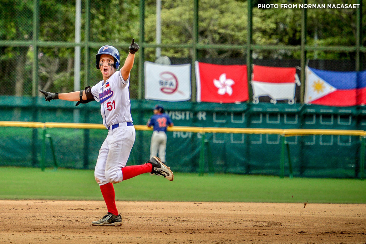 Tiebreaker Times Epic 7th inning rally propels Philippines comeback against Thailand to open title defense Baseball News  Vlad Eguia Thailand (Baseball) Egay delos Reyes Diego Lozano Aids Bernardo 2018 BFA East Asia Cup