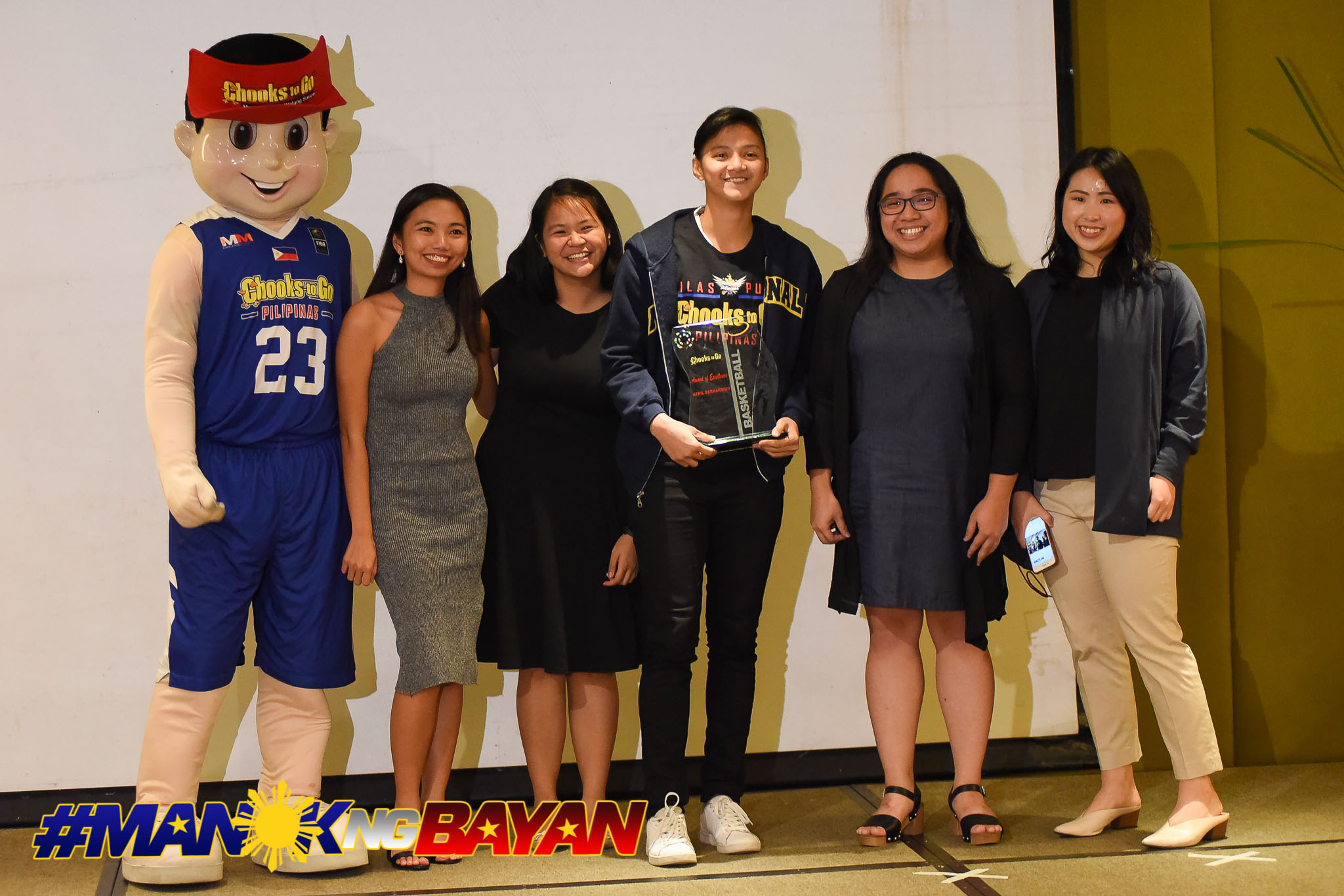Tiebreaker Times Afril Bernardino honored for her contributions to Women's Collegiate Basketball Basketball News NU UAAP  UAAP Season 80 3x3 Basketball UAAP Season 80 NU Women's Basketball Afril Bernardino 2018 Collegiate Awards