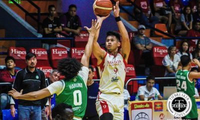 Tiebreaker Times San Beda books return trip to Finals, quells upstart Saint Benilde Basketball CSB News SBC  Yankie Haruna TY Tang San Beda Seniors Basketball Justin Gutang Javee Mocon Eugene Toba Donald Tankoua Clement Leutcheu Boyet Fernandez Benilde Seniors Basketball 2018 Filoil Premier Cup