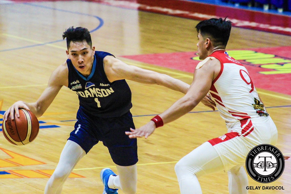 Tiebreaker Times Sean Manganti out to prove that he is one of the best small forwards in college AdU Basketball News  Sean Manganti Adamson Men's Basketball 2018 Filoil Premier Cup