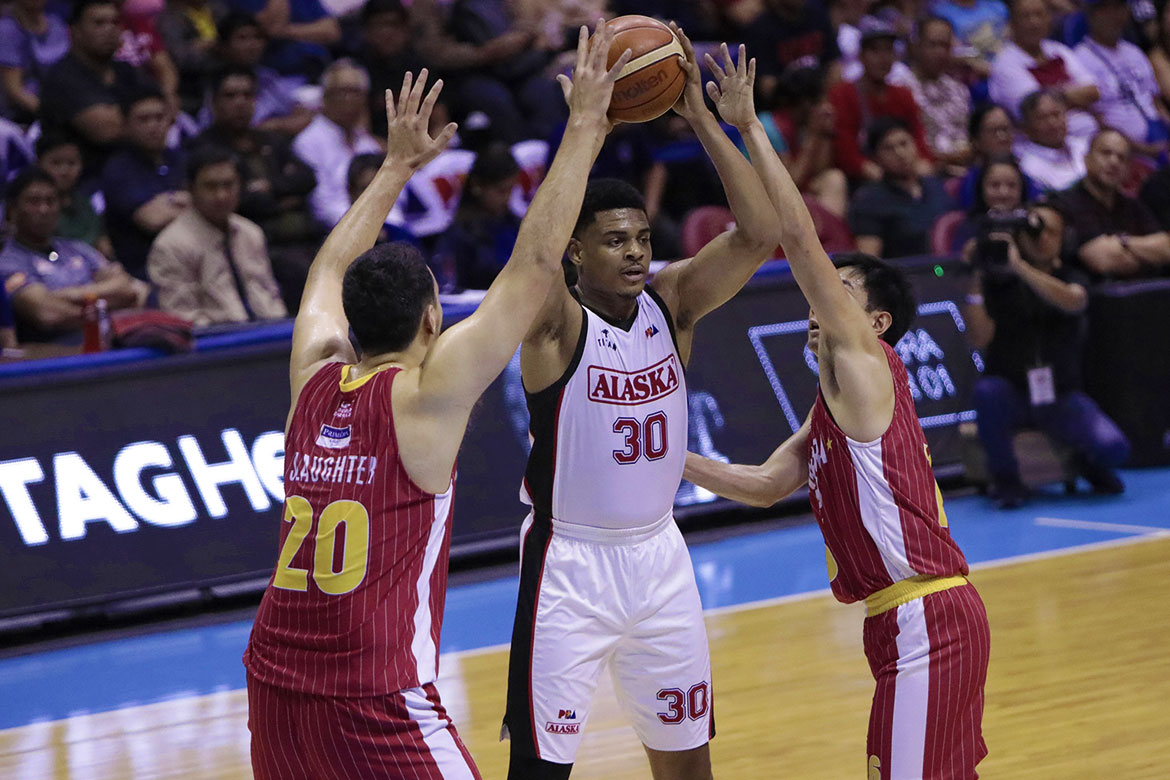 5185182e5d Tiebreaker Times Antonio Campbell left frustrated after nightmarish game:  'We played too nonchalant'. Photo by PBA Images