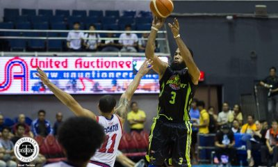 Tiebreaker Times Stanley Pringle erupts for 50 as GlobalPort nears QF berth Basketball News PBA  Stanley Pringle Rashawn McCarthy Pido Jarencio PBA Season 43 Malcolm White Jonathan Grey John Fields III Jerramy King Globalport Batang Pier Eric Camson Columbian Dyip 2018 PBA Commissioners Cup