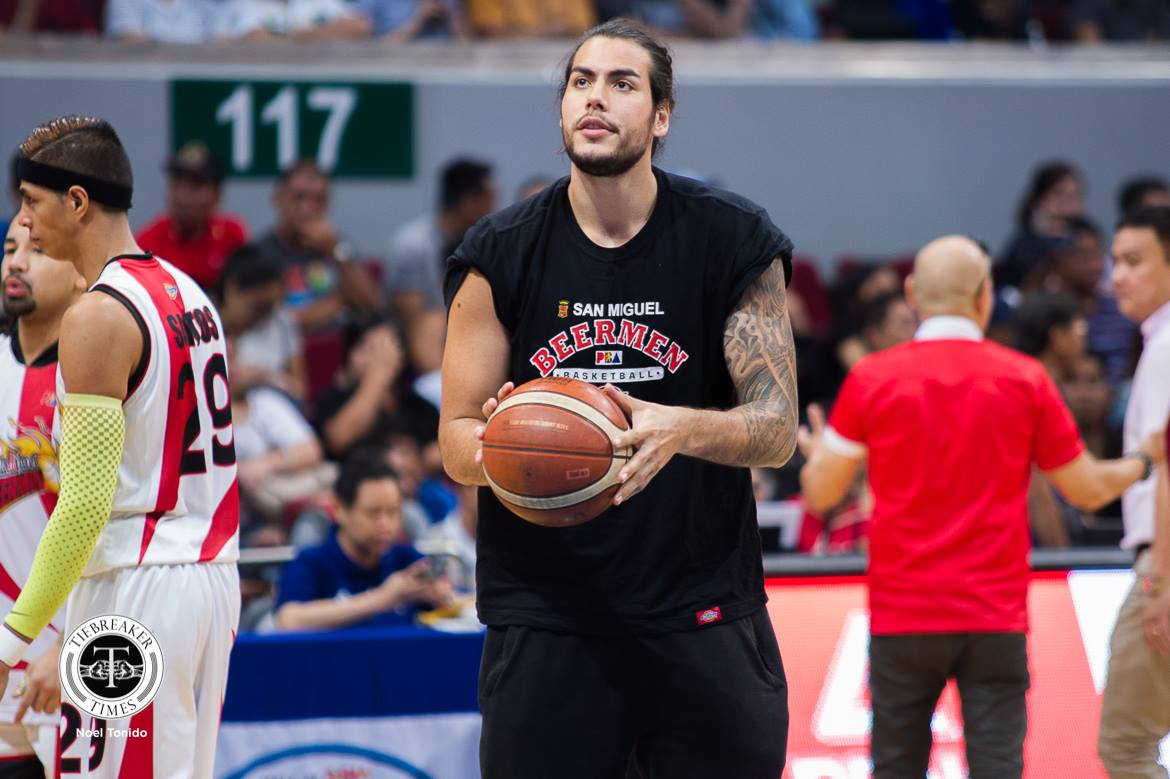 Tiebreaker Times Christian Standhardinger 'not guaranteeing' he can make it to 3x3 World Cup 2018 FIBA 3X3 World Cup 3x3 Basketball Basketball Gilas Pilipinas News PBA  San Miguel Beermen PBA Season 43 Leo Austria Christian Standhardinger 2018 PBA Commissioners Cup 2018 FIBA 3X3 World Cup - Men's