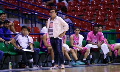 Tiebreaker Times Derrick Pumaren disappointed with CEU's showing: 'The playoffs is a man's game so you gotta man up' Basketball News PBA D-League  Derrick Pumaren CEU Scorpions 2018 PBA D-League Season 2018 PBA D-League Foundation Cup
