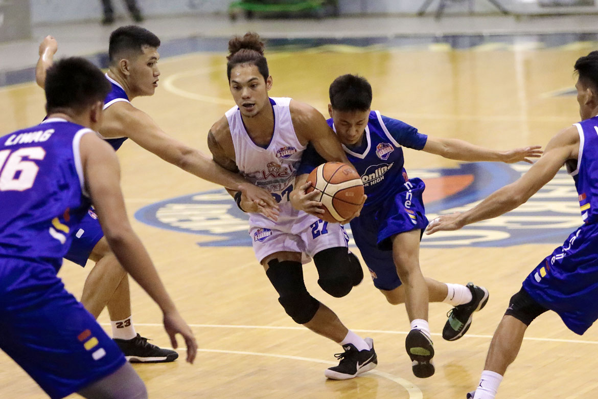 Tiebreaker Times Chris Bitoon steers Che'Lu whitewashing of AMA Basketball News PBA D-League  Stevenson Tiu Owen Graham Mark Herrera Jessie Collado Jason Melano Domark Matillano Chris Bitoon Che'Lu Revellers AMA Online Education Titans 2018 PBA D-League Season 2018 PBA D-League Foundation Cup