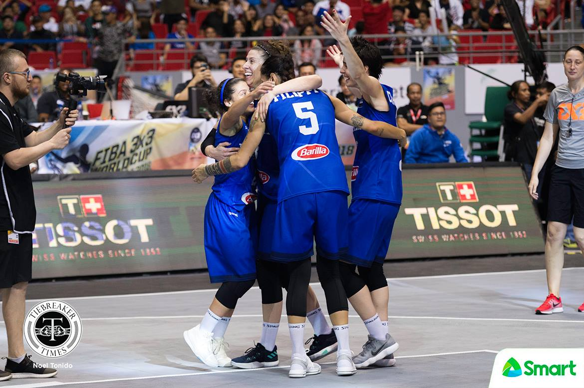 Tiebreaker Times Italy embraces 'Puso' during World Cup 2018 FIBA 3X3 World Cup 3x3 Basketball News  Rae Lin D'alie Marcella Filippi Italy (Basketball) 2018 FIBA 3x3 World Cup - Women's