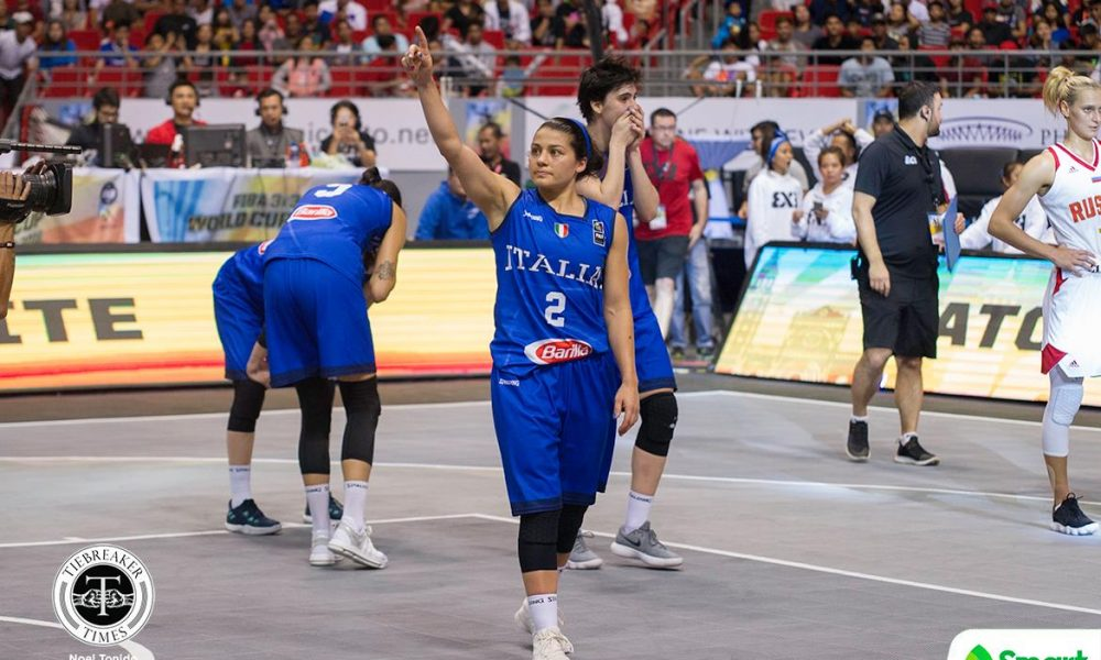 FIBA 3X3 World Cup – Italy def Russia – Rei Lin D'alie