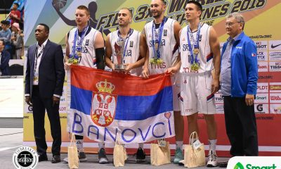 Tiebreaker Times Serbia completes World Cup treble 2018 FIBA 3X3 World Cup 3x3 Basketball News  Stefan Stojacic Serbia (Basketball) Netherlands (Basketball) Marko Savic Jesper Jobse Dusan Bulut 2018 FIBA 3x3 World Cup - Women's