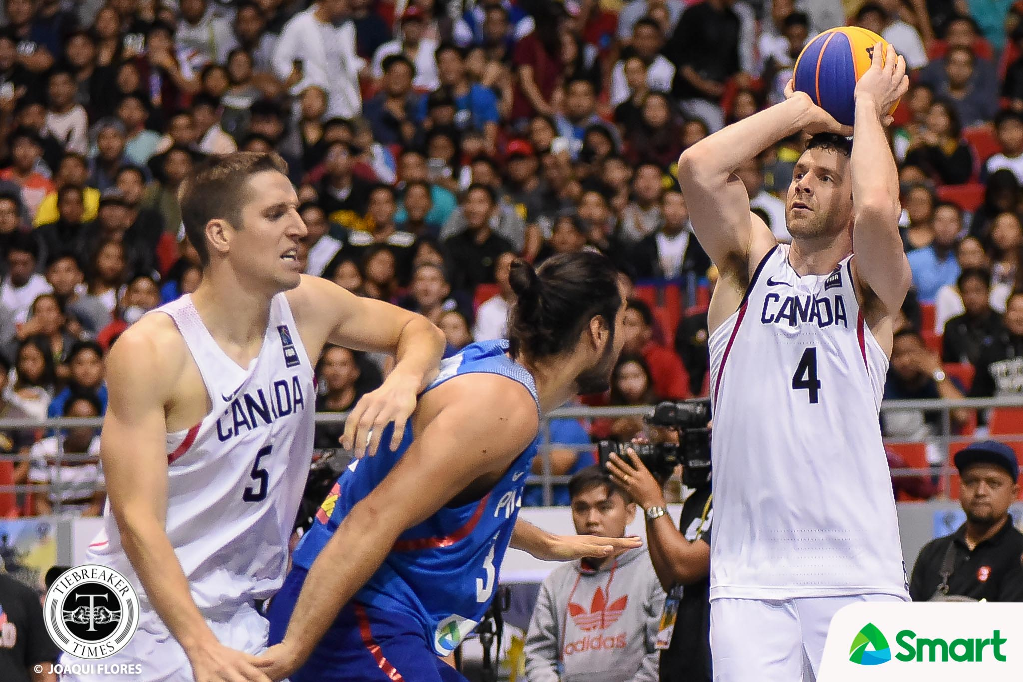 Tiebreaker Times NCAA all-time leader Steve Sir praises Roger Pogoy: 'You're one good shooter' 2018 FIBA 3X3 World Cup 3x3 Basketball Gilas Pilipinas News  Steve Sir Roger Pogoy Canada (Basketball) 2018 FIBA 3X3 World Cup - Men's