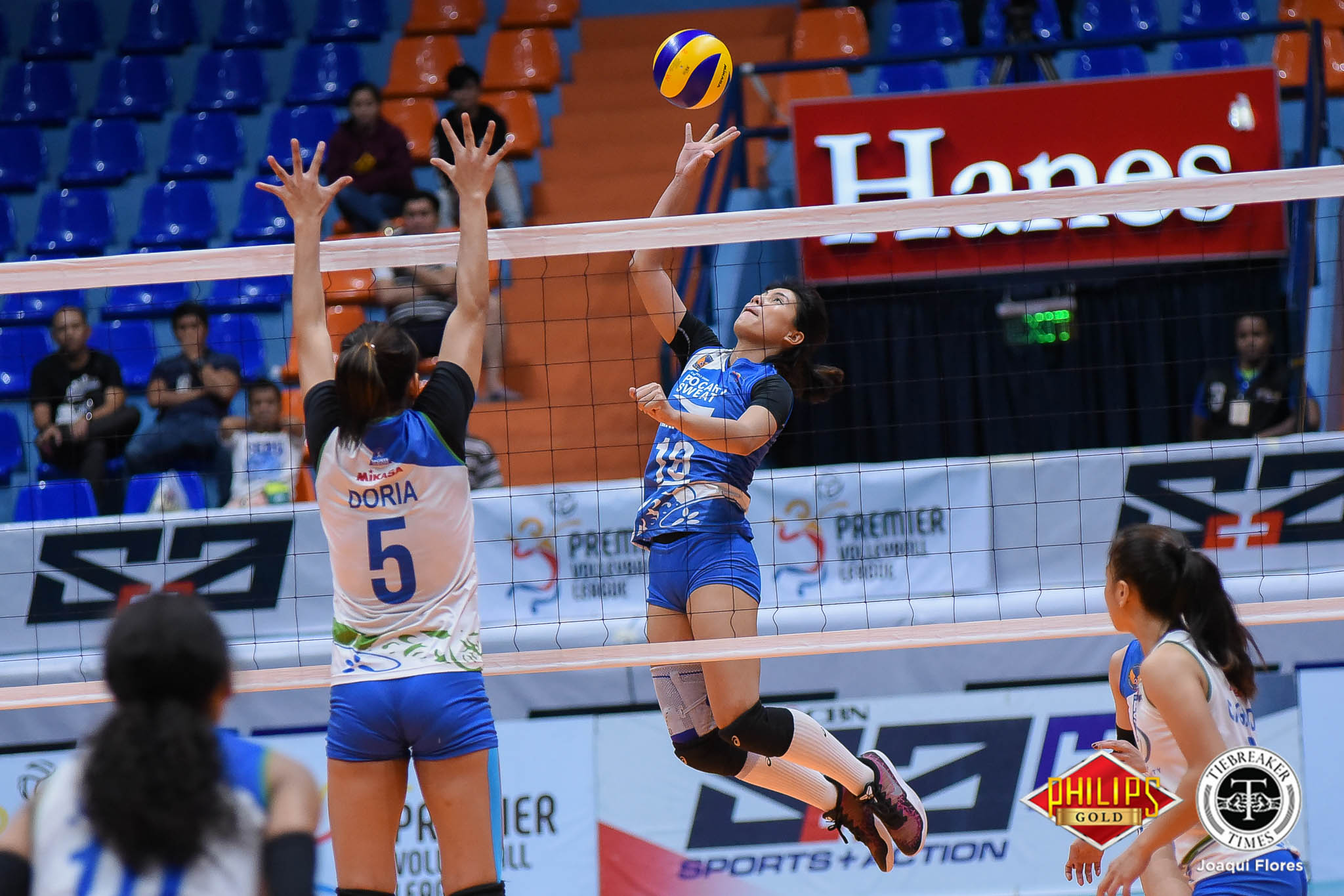 Tiebreaker Times Pocari Sweat-Air Force inches closer to semifinals, escapes Bali Pure-NU News NU PVL Volleyball  Wendy Semana Pocari Sweat-Air Force Lady Warriors Myla Pablo Maddie Palmer Jellie Tempiatura Jasper Jimenez Janisa Johnson Bali-Pure NU Water Defenders Babes Castillo Alexis Matthews 2018 PVL Women's Reinforced Conference 2018 PVL Season