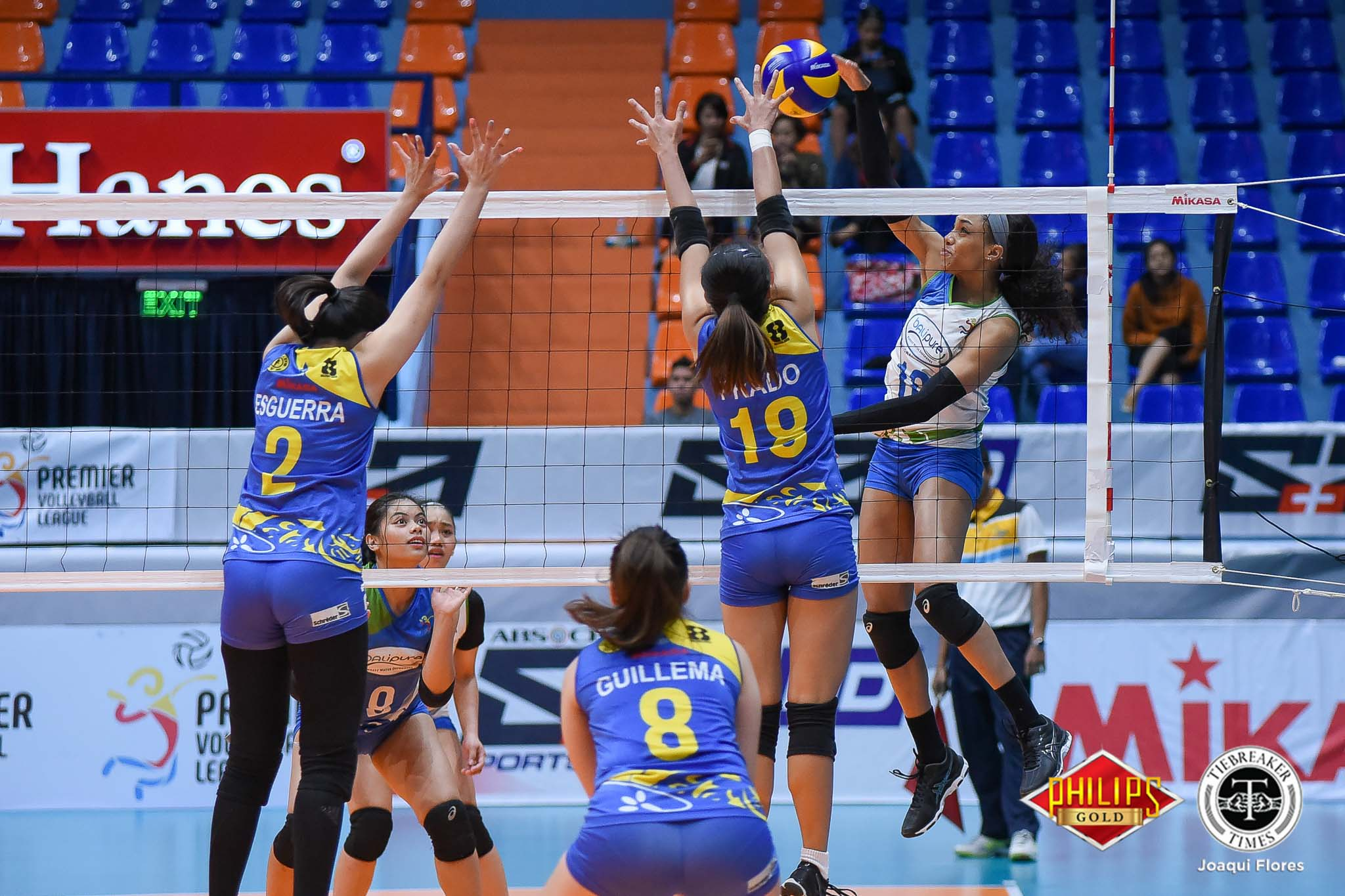 Tiebreaker Times Bali Pure-NU ends campaign with quick win over Tacloban News NU PVL Volleyball  Tacloban Fighting Warays Nes Pamilar Joyme Cagande Jennifer Nierva Janisa Johnson Hyapa Amporn Faith Nisperos Bali Pure-NU Purest Water Defenders Babes Castillo 2018 PVL Women's Reinforced 2018 PVL Season