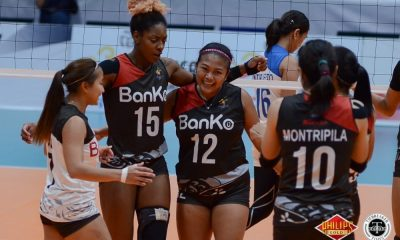 Tiebreaker Times BanKo-Perlas remains unscathed, hands Pocari Sweat-Air Force first QF loss News PVL Volleyball  Pocari Sweat-Air Force Lady Warriors Perlas Lady Spikers Myla Pablo Kia Bright Jutarat Montripilia Jem Ferrer Jasper Jimenez Ella De Jesus Dong dela Cruz Arielle Love 2018 PVL Women's Reinforced Conference 2018 PVL Season