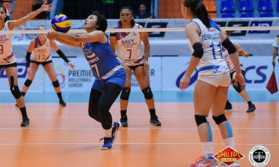 Tiebreaker Times Pocari Sweat-Air Force shrugs off slow start, Iriga-Navy News PVL Volleyball  Wendy Semana Pocari Sweat-Air Force Lady Warriors Maddie Palmer Macy Ubben Lauren Whyte Jellie Tempiatura Jasper Jimenez Iriga-Navy Lady Oragons Edgardo Rusit Arielle Love 2018 PVL Women's Reinforced Conference 2018 PVL Season