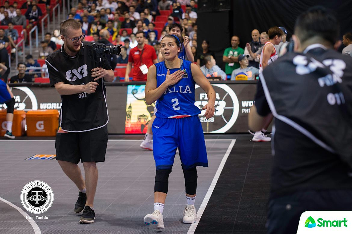Tiebreaker Times Anastasia Logunova's clutch FTs, Marcella Filippi's OT two-ball lift Russia, Italy respectively to Finals 2018 FIBA 3X3 World Cup 3x3 Basketball News  Russia (Basketball) Rae Lin D'alie Marcella Filippi Jiang Jiayin France (Basketball) Christelle Diallo Anna Lshkovtseva Anastasia Logunova 2018 FIBA 3x3 World Cup - Women's