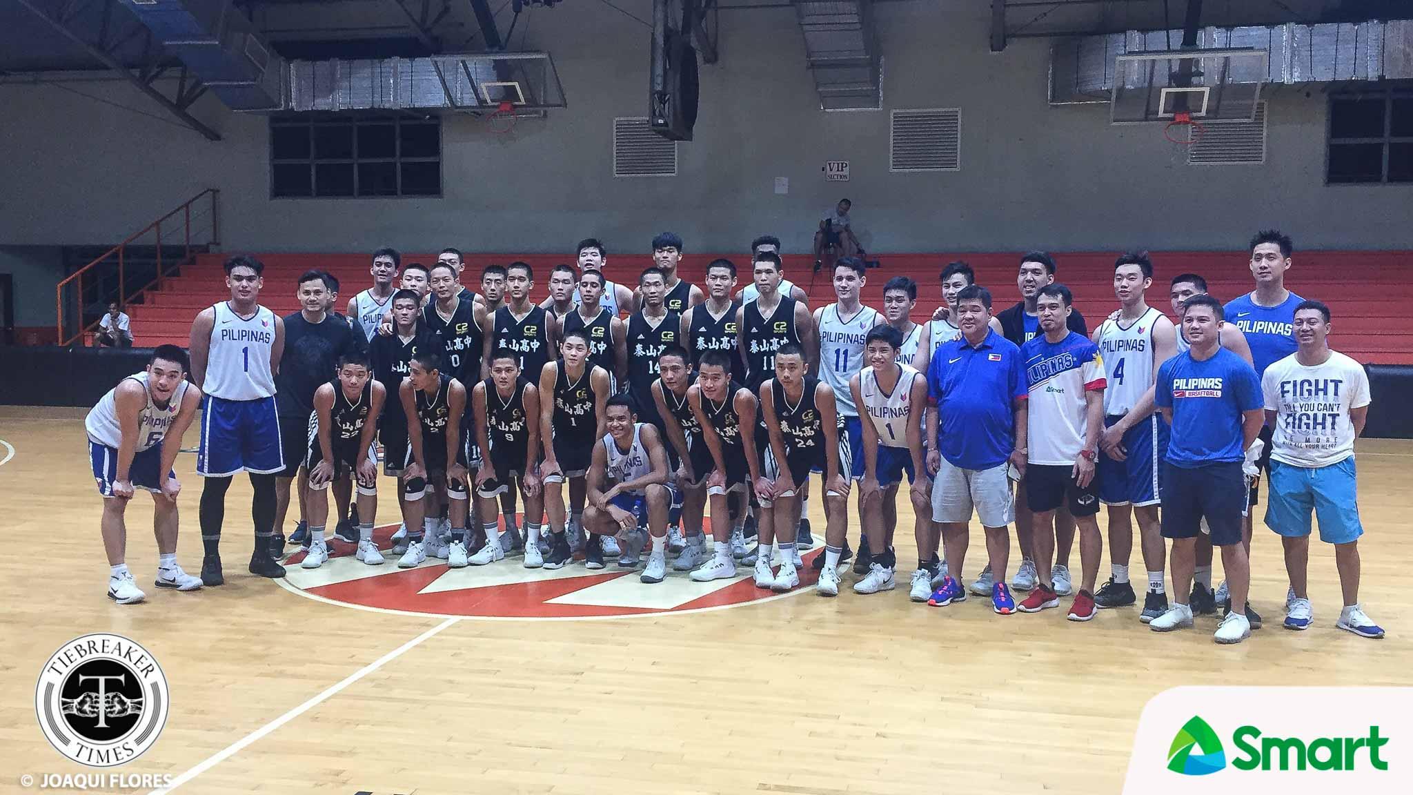 Tiebreaker Times Batang Gilas helps out Taiwan public high school Basketball Gilas Pilipinas News  Tai Shan Senior High School Josh Reyes Chen Zhizhong Batang Gilas 2018 FIBA Under-18 Asian Championship