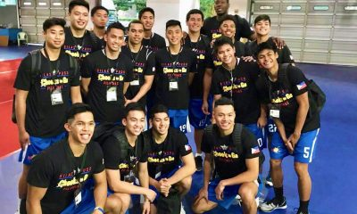 Tiebreaker Times WATCH: Blue Eagles during Jones Cup opening ceremony ADMU Basketball News  William Navarro Tyler Tio Thirdy Ravena Raffy Verano Patrick Maagdenberg Mike Nieto Matt Nieto Jolo Mendoza Jawuan White Isaac Go Gian Mamuyac BJ Andrade Ateneo Men's Basketball Anton Asistio Angelo Kouame Adrian Wong Aaron Black 2018 Jones Cup