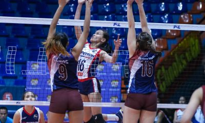 Tiebreaker Times Petron stays unbeaten, sweeps UP-UAI News PSL UP Volleyball  United Auctioneers-UP Lady Maroons Sisi Rondina Shaq delos Santos Rhea Dimaculangan Pia Gaiser Petron Blaze Spikers Isa Molde Godfrey Okumu Bernadeth Pons 2018 PSL Season 2018 PSL Invitational Cup