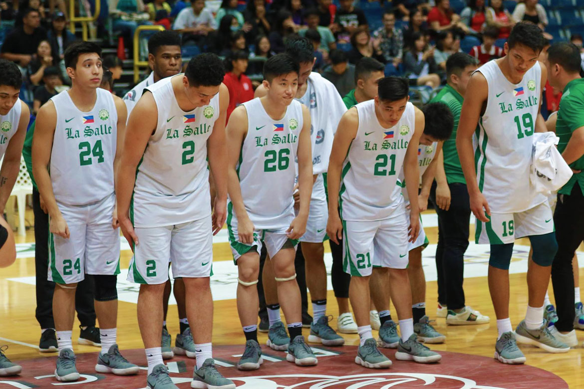 Tiebreaker Times Costly foul deals La Salle first loss Basketball DLSU News  Taane Samuel Louie Gonzalez Justine Baltazar Joaqui Manuel DLSU Men's Basketball Andrei Caracut Aljun Melecio 2018 BLIA Cup