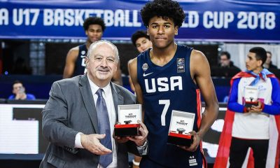 Tiebreaker Times Fil-Am Jalen Green hailed as U17 MVP Basketball News  Jalen Green FilAm Sports USA 2018 FIBA Under-17 World Cup