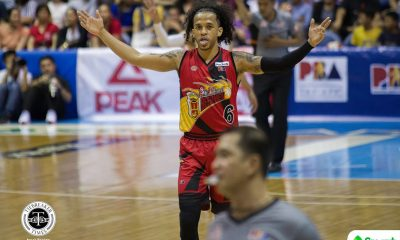 Tiebreaker Times Ejected Chris Ross says he did not deserve technical fouls Basketball News PBA  San Miguel Beermen PBA Season 43 Chris Ross 2018 PBA Commissioners Cup