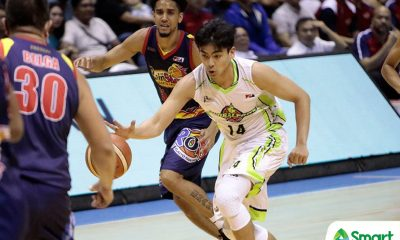 Tiebreaker Times Jonathan Grey on game-winner: 'Pag sablay panget, 'pag nashoot pogi' Basketball News PBA  PBA Season 43 Jonathan Grey Globalport Batang Pier 2018 PBA Commissioners Cup