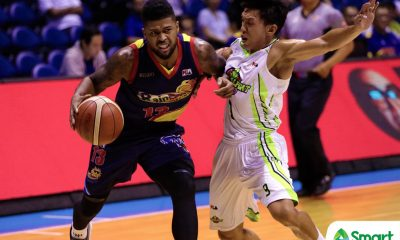 Tiebreaker Times Maverick Ahanmisi takes blame in Rain or Shine's sorry loss to GlobalPort Basketball News PBA  PBA Season 43 Maverick Ahanmisi Globalport Batang Pier 2018 PBA Commissioners Cup