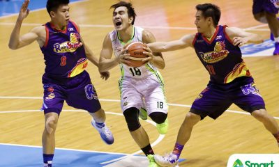 Tiebreaker Times Ryan Araña suffers scary fall Basketball News PBA  Ryan Arana PBA Season 43 Globalport Batang Pier 2018 PBA Commissioners Cup