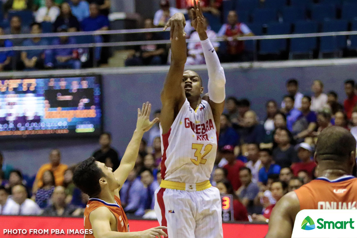 Tiebreaker Times In the midst of a 7-game winning streak, Justin Brownlee believes Ginebra yet to reach peak Basketball News PBA  Tim Cone PBA Season 43 Justin Brownlee Barangay Ginebra San Miguel 2018 PBA Commissioners Cup