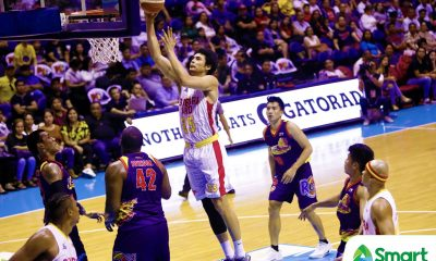 Tiebreaker Times In-pain Japeth Aguilar hoping to play for Ginebra in semis Basketball News PBA  PBA Season 43 Japeth Aguilar Barangay Ginebra San Miguel 2018 PBA Commissioners Cup