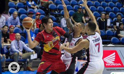 Tiebreaker Times Rare show of emotion from mild-mannered June Mar Fajardo Basketball News PBA  San Miguel Beermen PBA Season 43 June Mar Fajardo 2018 PBA Commissioners Cup