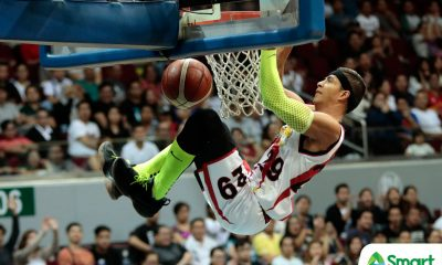 Tiebreaker Times Arwind Santos to still do 'Spider-Man' dunk despite league memo Basketball News PBA  San Miguel Beermen PBA Season 44 Arwind Santos 2019 PBA Philippine Cup
