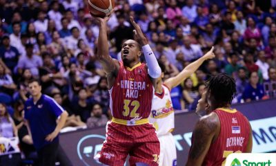 Tiebreaker Times Justin Brownlee continues to roll as Ginebra grabs early semis lead Basketball News PBA  Tim Cone Reggie Johnson Rain or Shine Elasto Painters PBA Season 43 Justin Brownlee Jeff Chan James Yap Greg Slaughter Ed Daquioag Caloy Garcia Barangay Ginebra San Miguel 2018 PBA Commissioners Cup