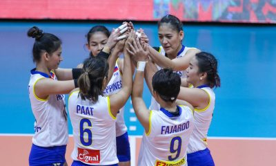 Tiebreaker Times National Team clobbers Cocolife in first outing News PSL Volleyball  Shaq delos Santos Philippine Women's National Volleyball Team Moro Branislav Kim Fajardo Jela Pena Jaja Santiago Dindin Santiago-Manabat Denden Lazaro Cocolife Asset Managers 2018 PSL Season 2018 PSL Invitational Cup