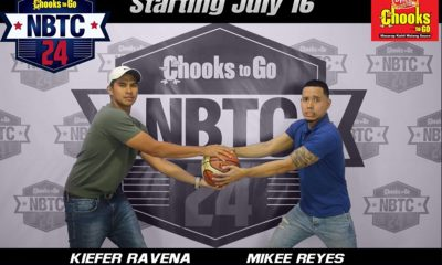 Tiebreaker Times WATCH: Kiefer Ravena debuts as Chooks-to-Go/NBTC 24 host; Joel Cagulangan tops Week 1 NBTC NCAA News  NCAA Season 93 Juniors Basketball NCAA Season 93 Mikee Reyes Kiefer Ravena Chooks-to-Go 2019 NBTC Season