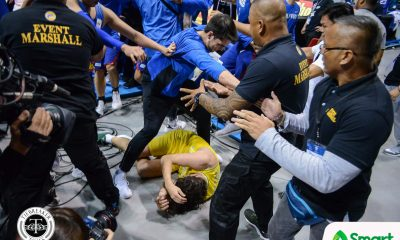 Tiebreaker Times Free-for-all brawl breaks out during Gilas-Australia game 2019 FIBA World Cup Qualifiers Basketball Gilas Pilipinas News  Troy Rike Thon Maker Nathan Sobey Jiovani Jalalon Jayson Castro Gilas Elite Daniel Kickert Chris Goulding Carl Cruz Calvin Abueva Australia (Basketball) Andray Blatche 2019 FIBA World Cup Qualifiers Group B 2019 FIBA World Cup Qualifiers