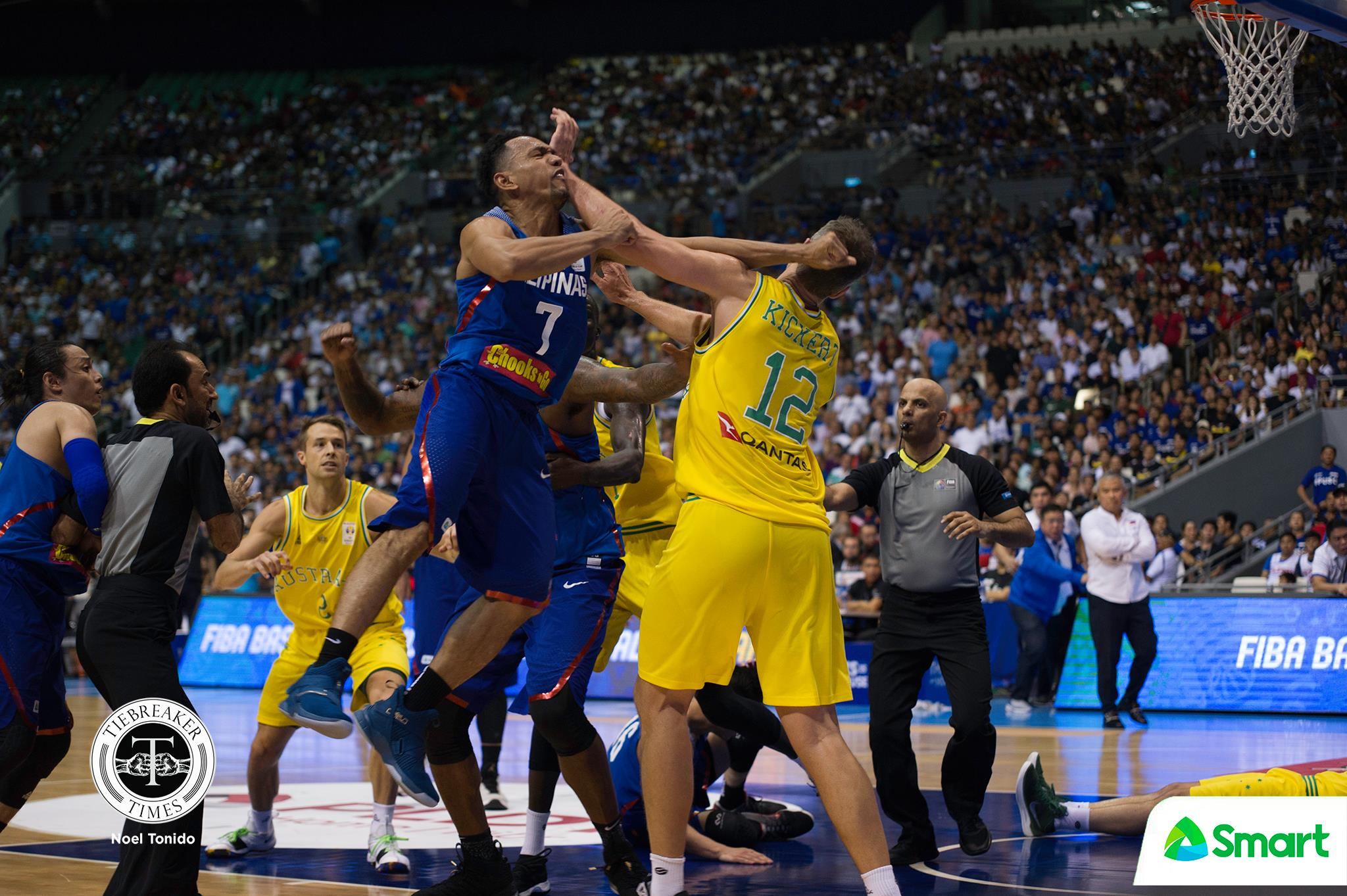 Tiebreaker Times The Gilas-Aussie brawl and the true meaning of 'brotherhood' Basketball Gilas Pilipinas News  Gilas Pilipinas Men Australia (Basketball) 2019 FIBA World Cup Qualifiers Group B 2019 FIBA World Cup Qualifiers