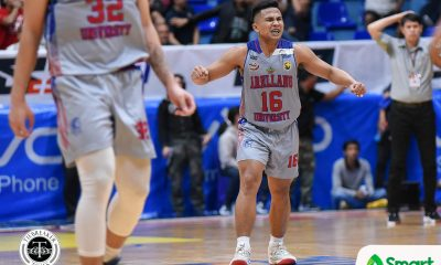 Tiebreaker Times Jerry Codiñera lauds clutch Levi dela Cruz: 'He has a big heart' AU Basketball NCAA News  NCAA Season 94 NCAA Season 92 Seniors Basketball Levi dela Cruz Jerry Codinera Arellano Seniors Basketball