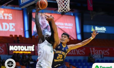 Tiebreaker Times Saint Benilde romps short-handed JRU to even slate Basketball CSB JRU NCAA News  Yankie Haruna Vergel Meneses TY Tang NCAA Season 94 Seniors Basketball NCAA Season 94 Mark Mallari JRU Seniors Basketball Jed Mendoza Clement Leutcheu Benilde Seniors Basketball